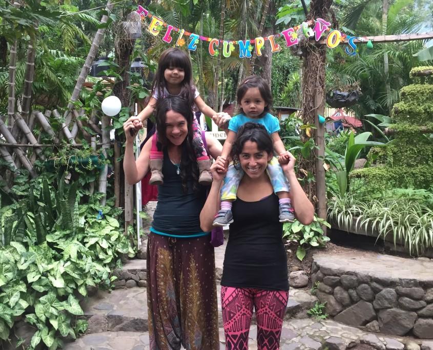 Jenika, Luli, and two niñas